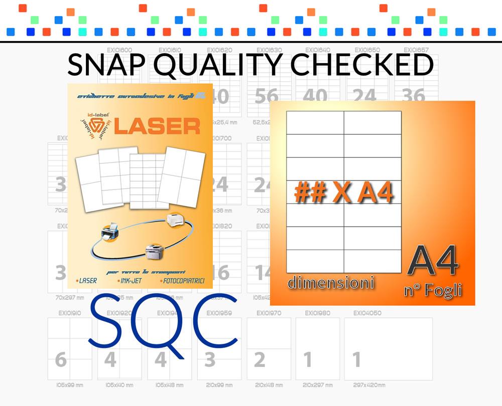 20 A4 foglio 16 adesivo 105 X 35 mm Carta etichetta adesiva per stampanti a getto dinchiostro e laser