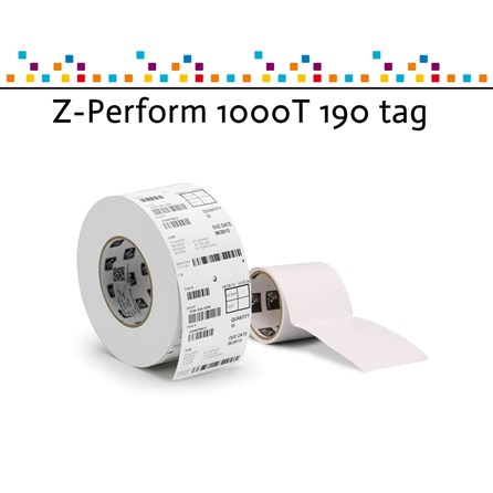 Z-Perform 1000T tag in fanfold