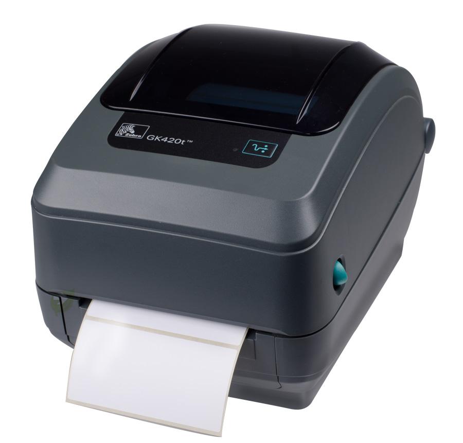 Label Printer Zebra GK420T; direct thermal, thermal ...
