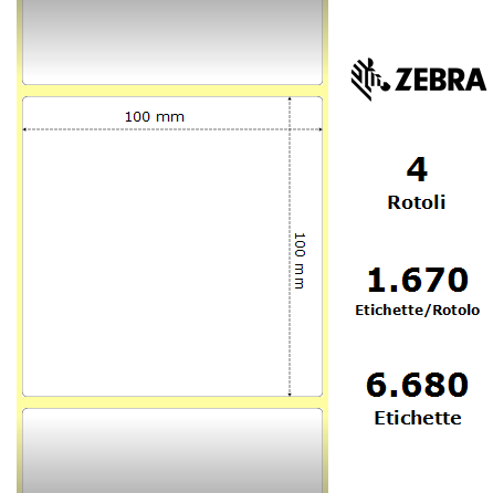 TRASFERIMENTO TERMICO 148 x 210 mm 500 pezzi ETICHETTE ADESIVE ROTOLO