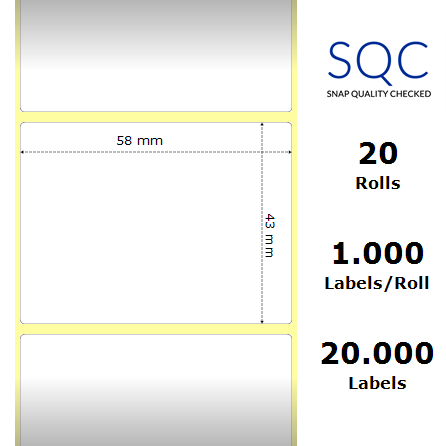 """Roll 1000 adhesive labels /""""Special OFFER/"""" Ø 40 MM"""